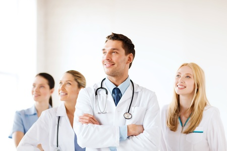 healthcare and medical - young team or group of doctors Stok Fotoğraf