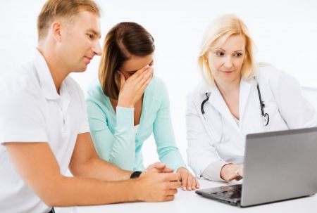 medical cabinet: healthcare, medical and technology - doctor with patients in hospital