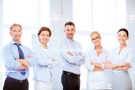 business and office concept - picture of friendly business team in office Stock Photo - 22185158