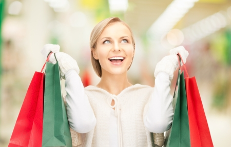 sales person: picture of lovely woman with shopping bags