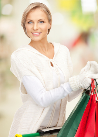 picture of lovely woman with shopping bags Stock Photo - 22526259