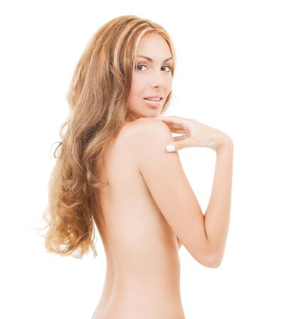 health and beauty concept - beautiful topless woman photo