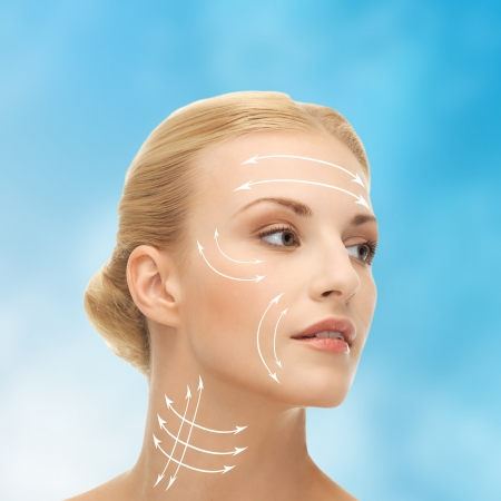 surgery: health, beauty, medicine concept - beautiful woman ready for cosmetic surgery