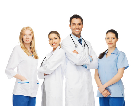 healthcare team: healthcare and medicine concept - young team or group of doctors