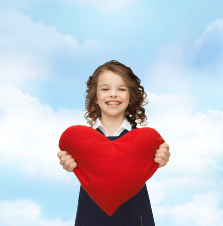 beautiful girl with big heart photo