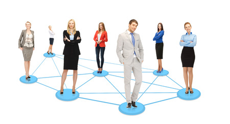 business and social concept - social or business network