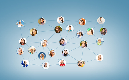networking and communication concept - social network Stock fotó