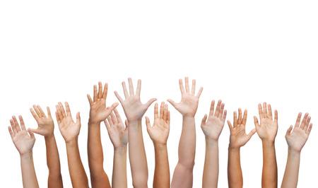 gebaar en lichaamsdelen concept - mensen handen wuivende handen Stockfoto