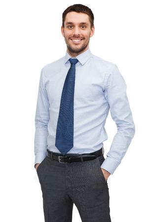 ビジネスおよびオフィス コンセプト - ハンサムな buisnessman 写真素材