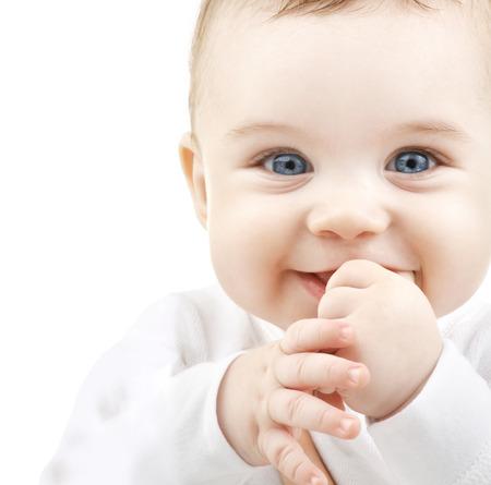 ojos azules: niños, personas y concepto de la felicidad - adorable bebé