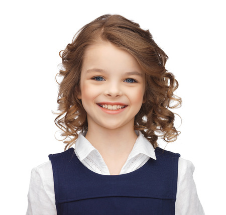 happy children concept - portrait of smiling little girl photo