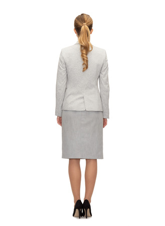 personas de espalda: de negocios, la educación, las personas y el concepto de Oficina - negocios o maestro en traje de vuelta