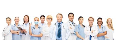 geneeskunde en gezondheidszorg concept - team of groep van artsen en verpleegkundigen Stockfoto