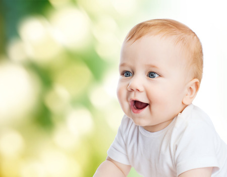 child and toddler concept - smiling little baby photo