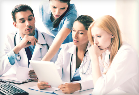 doc: picture of young team or group of doctors working