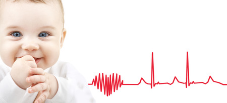 ekg: child, people and happiness concept - adorable baby