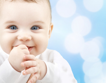 the infancy: child, people and happiness concept - adorable baby