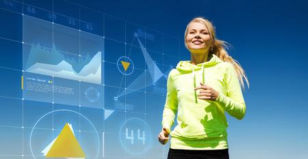 Remise en forme et le concept de mode de vie - Le jogging Coureur femelle en plein air Banque d'images - 38958637