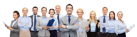 american banker: group of happy business people