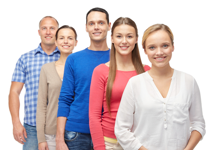 lineup: family, gender and people concept - group of men and women Stock Photo