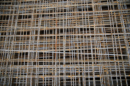 karkas: building, construction and material concept - close up of rusty carcass grid