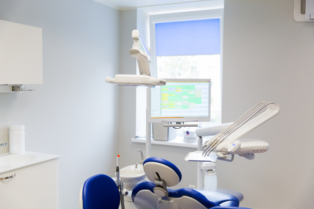 stomatological: medicine, stomatology, dentistry and health care concept - dental clinic office with medical equipment