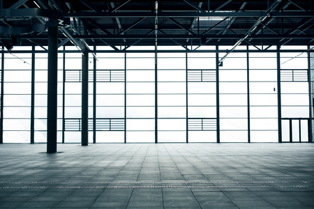 empty room: architecture and construction concept - modern empty show room