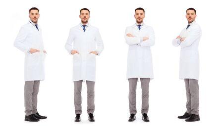 bata blanca: la medicina, la ciencia, la profesión y el cuidado de la salud concepto - los médicos de bata blanca Foto de archivo