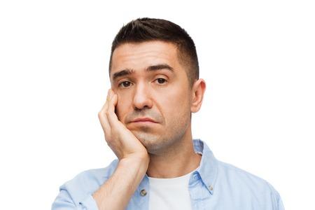 Emoties en mensenconcept - verdrietig middelbare man Stockfoto