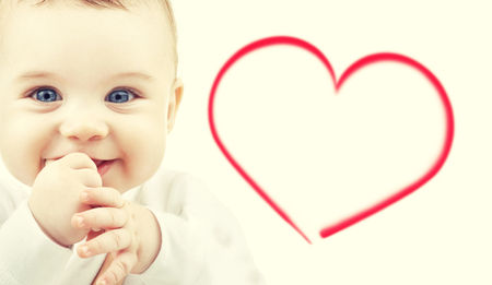 adorable child: child, happiness and people concept - adorable baby Stock Photo