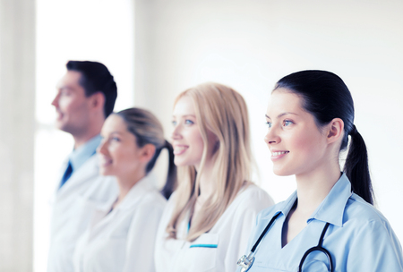 medical doctors: healthcare and medical - young team or group of doctors Stock Photo