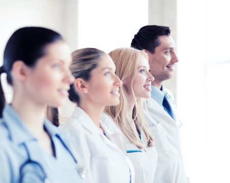 physiotherapists: healthcare and medical - young team or group of doctors Stock Photo