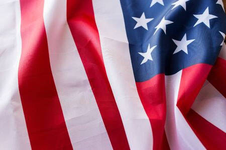 nationalism: american independence day, patriotism and nationalism concept - close up of american flag