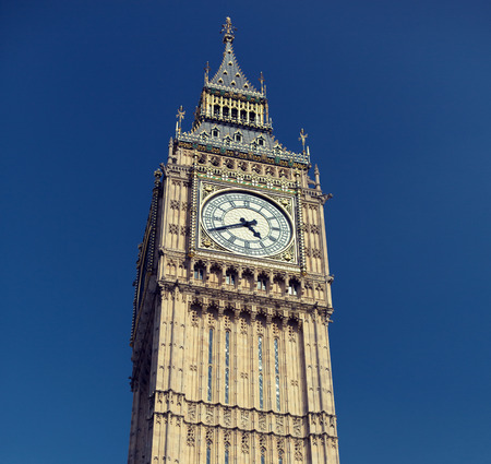 bigben: England, London - Big Ben, the great clock tower of the Houses of Parliament in London and its bell