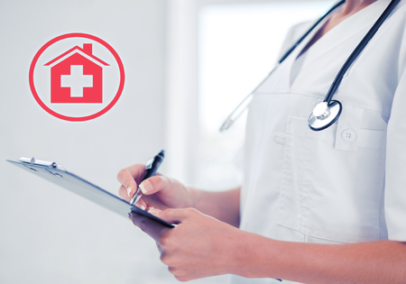 prescribing: healthcare and medical concept - female doctor with stethoscope writing prescription