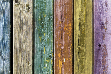 old backgrounds: backgrounds and texture concept - old wooden fence painted in different colors background