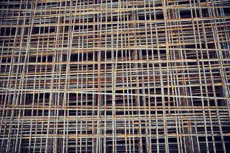 carcass: building, construction and material concept - close up of rusty carcass grid