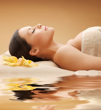 salon and spa: picture of beautiful woman in spa salon