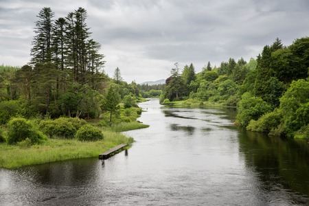 valley view: nature and landscape concept - view to river in ireland valley Stock Photo