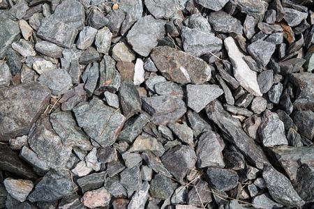 macadam: nature concept - close up of granite stones