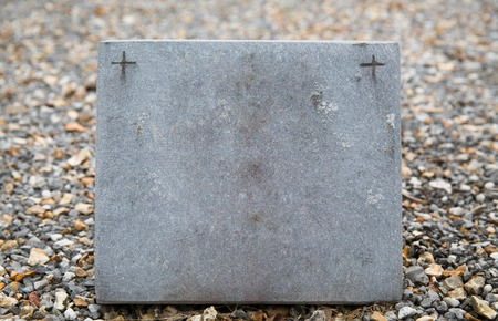 gravestone: grave and burial concept - old catholic cemetery gravestone