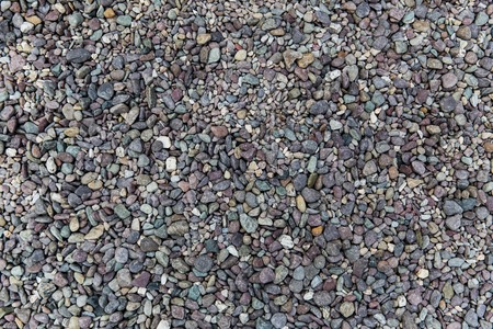 inanimate: inanimate nature and background concept - close up of beach pebble stones Stock Photo