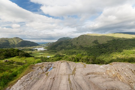 irish countryside: nature and landscape concept - view to Killarney National Park valley in ireland