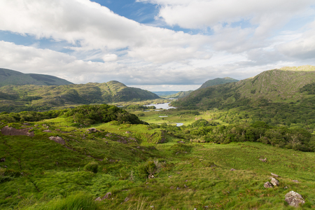 valley view: nature and landscape concept - view to Killarney National Park valley in ireland