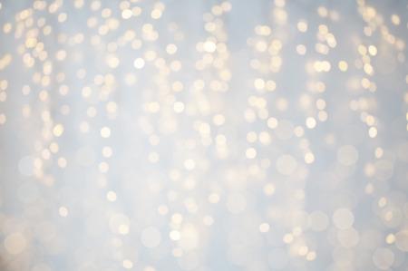 background, bokeh, holidays and backdrop concept - blurred christmas lights Reklamní fotografie - 65202247