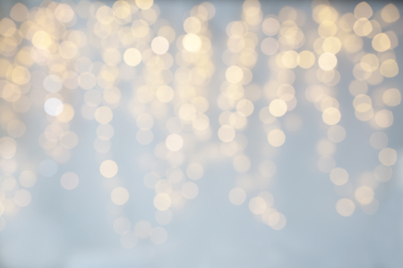 christmas backdrop: background, bokeh, holidays and backdrop concept - blurred christmas lights