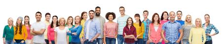 Groupe international de gens souriants heureux Banque d'images - 68492278