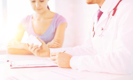 patient and doctor prescribing medication photo