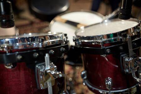 entertainment equipment: drums at music studio