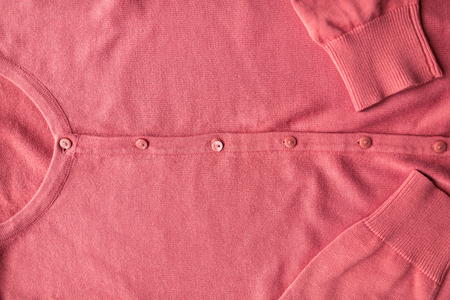 buttoned: close up of cardigan